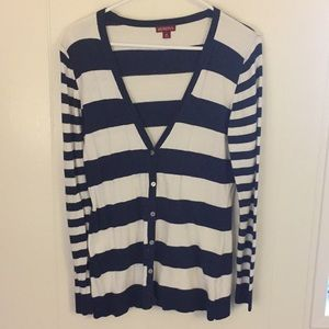 🔴Merona Navy Striped Cardigan